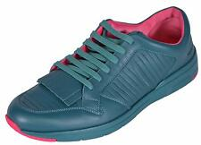NEW Gucci Men's 368482 Teal Pink Leather Tassel Contrast Sneakers Shoes 9 G