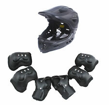 CIGNA Kids Bicycle Bike Convertible Helmet Black S-size w/Black protective pads