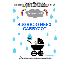 koodee uk Raincover To fit BUGABOO BEE3 CARRYCOT CARRYCOT BNIP