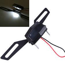 Universal Led Light License Plate Lamp+Bracket Holder for Cafe Racer Motorcycles(Fits: Boss Hoss)