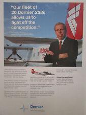 2/1990 PUB DORNIER 228 MIDWAY COMMUTER ILLINOIS DICK PFENNIG ORIGINAL AD