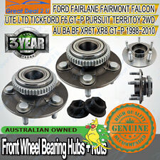 2 for Ford Falcon AU/BA/BF Territory 2WD ABS Front Wheel Bearing Hub Nuts