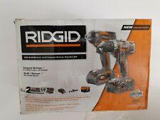 RIDGID 18V Hammer Drill & Impact Driver Combo Kit