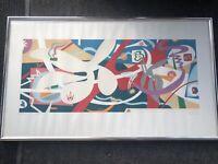 Vintage MCM 1979 Nina Paull Water&Sand Original Framed Serigraph Signed & Number