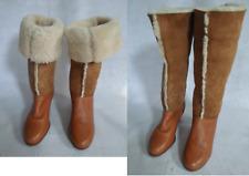 1970's 70's VINTAGE Suede SHEEPSKIN FUR Shearling Apres Ski Boots 7/7.5