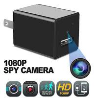 32GB HD 1080P Mini Hidden Camera Wall Plug Adapter USB Charger DVR Security Cam