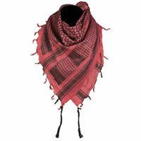 Mens Womens Tactical Shemagh Military Army Neck Arab Scarf Scrim Headscarf Red