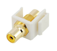 RCA keystone coupler - yellow