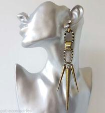 Crystal Butterfly Drop/Dangle Acrylic Costume Earrings