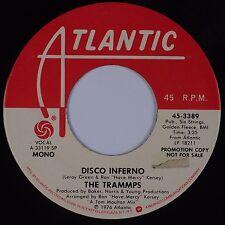 THE TRAMMPS: Disco Inferno USA ATLANTIC DJ PROMO Mono Stereo 45 Soul VG+