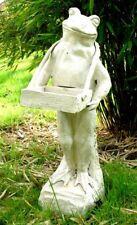 Frosch + Tablett Kundenstopper Garten Figur Ständer Visitenkarten Gusseisen 20kg