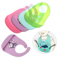 Towel Cute Children Baby Silicone Bibs Feeding Kids Apron Pick Rice Pocket