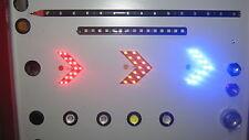 Amber or Blue 12v LED Pointing Arrow Indicators for Motorbike Day Van Camper 4x4