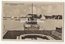 Motor Cruiser Moored On The Broads Oulton Broad Norfolk Vintage Postcard 156c