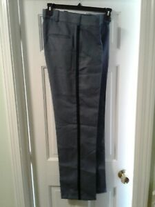 Uniform Pants 100% Polyester Regular Rise Black Stripe size 34