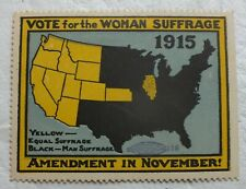 Vote For The Women Suffrage 1915 Amendment Cinderella Stamp MH950