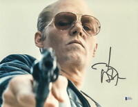 JOHNNY DEPP SIGNED 11X14 PHOTO AUTHENTIC AUTOGRAPH BLACK MASS BECKETT COA B