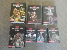 ~SET OF ALL 7~ Dungeons and Dragons Spellbook Cards D&D 5E LOT Gale Force 9 NEW!
