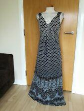 Ladies PER UNA Dress Size 12 Ombre Black Teal Long Maxi Party Evening