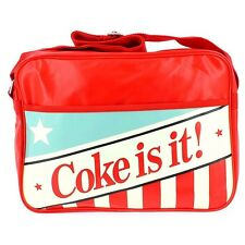 Official Coca-Cola Coke Design Red Messenger Courier Bag - Retro Vintage Style