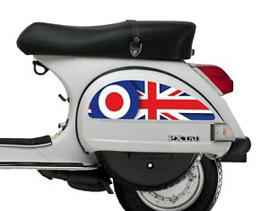 Side Panel Stickers fits Vespa PX T5 Scooter - Union Jack M od Target Decal SP23
