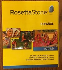 Rosetta Stone Level 1 LEARN SPANISH (LATIN AMERICA) SOFTWARE -NEW - MSRP $249.00