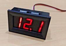 4.5v - 99.9v DC 3 Wire Red LED Panel LED Display Voltage Meter Voltmeter