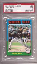 2011 Topps Lineage 1975 Mini #29 Chris Sale RC-Rookie White Sox graded PSA 7 NM