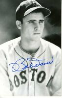 Boby Doerr Signed Jsa Cert Sticker Photo Postcard Authentic Autograph