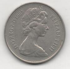 Moneta Inghilterra Great Britain 10 New Pence 1968 Elizabeth II GBT105