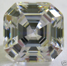 5 X 5 mm 0.75 ct ASSCHER Cut Sim Diamond, Lab Diamond WITH LIFETIME WARRANTY