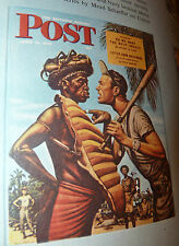 "1954 Pre-Owned "" Saturday Evening Post TREASURY "" Hardcover Book +DJ  60 yrsold"