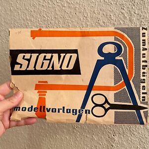 DDR Laubsäge-Arbeit Vorlage SINGO mit OVP!! 18x25cm Aufbügeln Basteln Hobby ALT