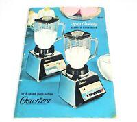 Osterizer Spin Cookery Blender Cook Book Vintage Cookbook 1968 Mid Century