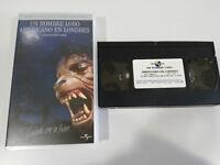 UN HOMBRE LOBO AMERICANO EN LONDRES JOHN LANDIS TERROR VHS TAPE ESPAÑOL