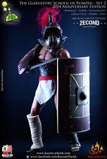 ANCIENT ROME GLADIATORS Myrmillo Thraex Hoplom Actionfigur Kaustic Plastik 1/6