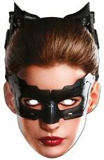 Catwoman Paper Mask Batman Dark Knight Fancy Dress Halloween Costume Accessory
