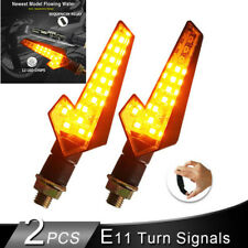 Pair Motorcycle Flowing Water Blinker LED Turn Signal Lights Flashing Lamp DC12V