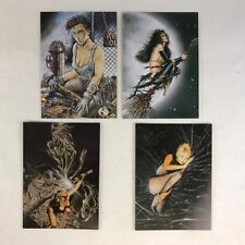 HEAVY METAL: THE ART OF HEAVY METAL Complete BLACK MAGIC 3-CARD SET w/ PROMO