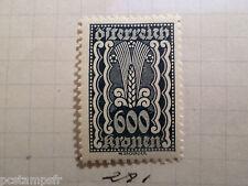 AUTRICHE AUSTRIA, 1922, timbre 281, ARMOIRIES, neuf*, OSTERREICH VF MH STAMP