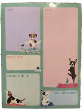 """New Clementine Paper Notepad Dogs Puppies Goals Notes 8"""" X 6"""""""