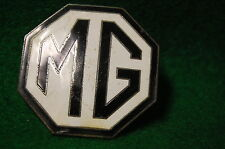 Vintage MG Car Company Emblem Logo Screw On Original Part Enamel Metal
