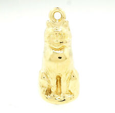9Carat Yellow Gold Cat Charm (7x18mm)