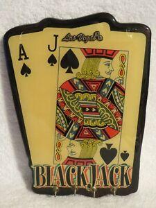 Vintage Las Vegas Black Jack Playing Cards 21 Game Wall Hanging Key Holder
