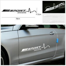 2 x White Sport Limited Edition Auto Car Door Side Vinyl Graphics Decal Stickers