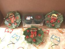 5 Vtg Waccents Figural Christmas Candles Scented-Holly Berry Green Red unused