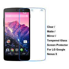 Tempered Glass/Clear/Matte/Mirror Film Screen Protector For LG Google Nexus 5
