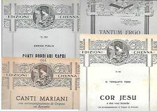 SPARTITO COR JESUS TANTUM ERGO MARIANI CANTI POPOLARI SACRI LOTTO 4 RELIGIONE