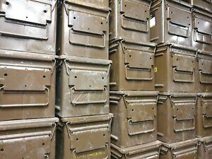 British Army Storage Ammo Box Tin Heavy Duty Military Toolbox A480 Metal