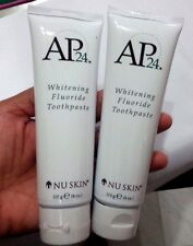 2x NuSkin AP24 Whitening Fluoride Toothpaste remove stains prevent plaque white